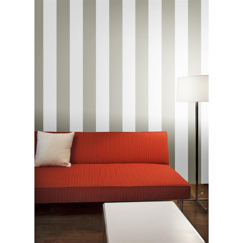 Stripes Modern Classic Light Dark Grey Removable Wallpaper