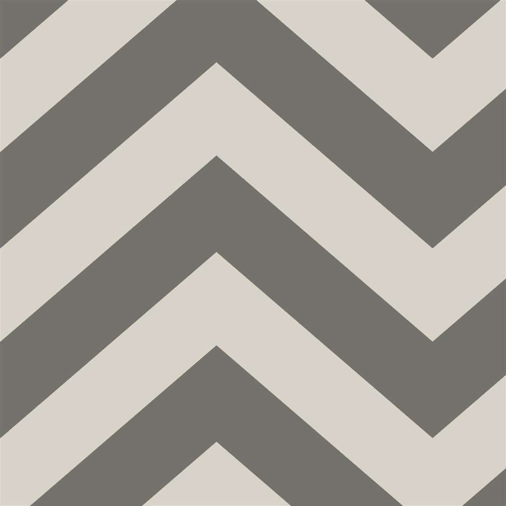 Chevron Modern Classic Light Dark Grey Removable Wallpaper