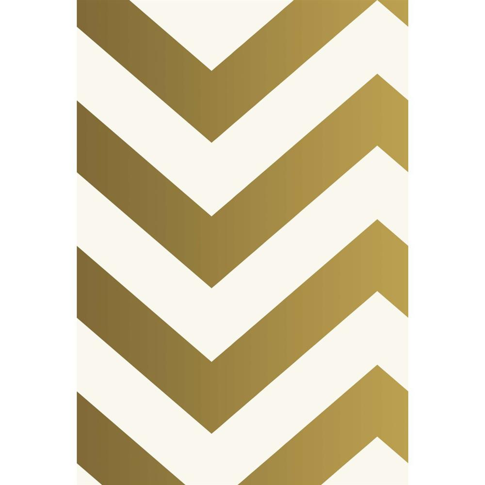 chevron modern classic metallic gold ivory removable