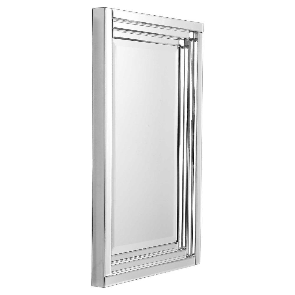 Vanna Modern Classic Beveled Frameless Rectangular Mirror Kathy Kuo Home