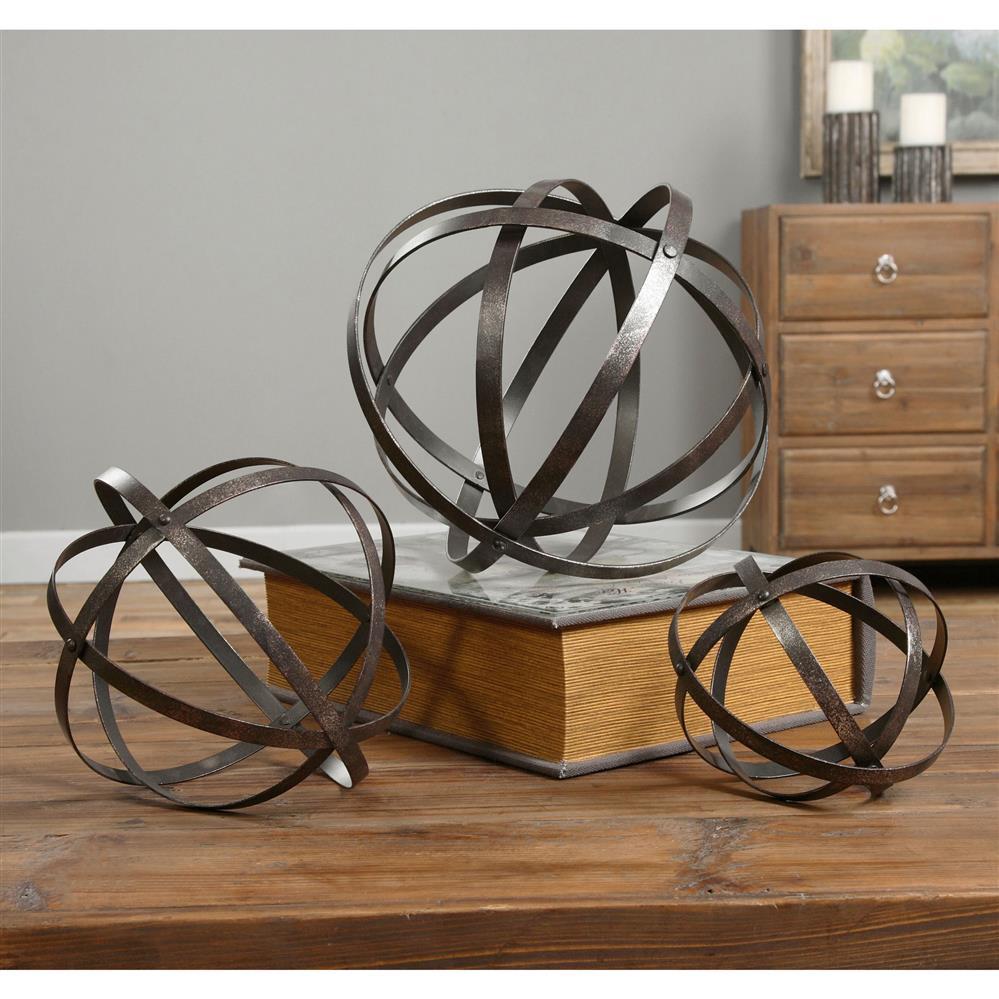 Bronze Home Decor: Jetson Industrial Loft Bronze Metal Spheres Decor