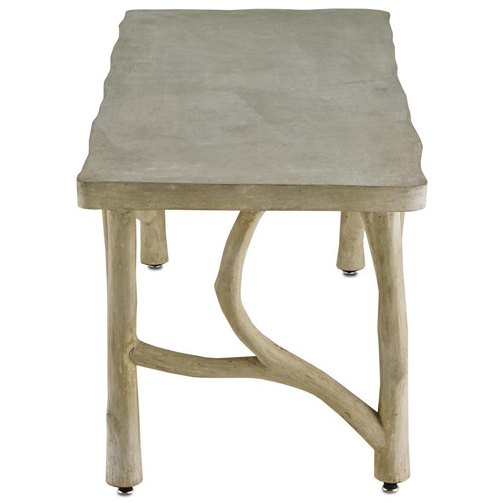 Birch Coffee Table Elowen Rustic Lodge Concrete Birch Coffee Table Kathy Kuo Home