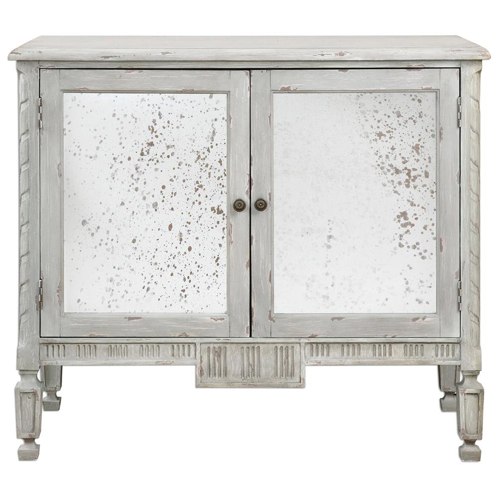 view full size ... - Bellport Coastal Beach Grey Antique Mirror Console Media Cabinet