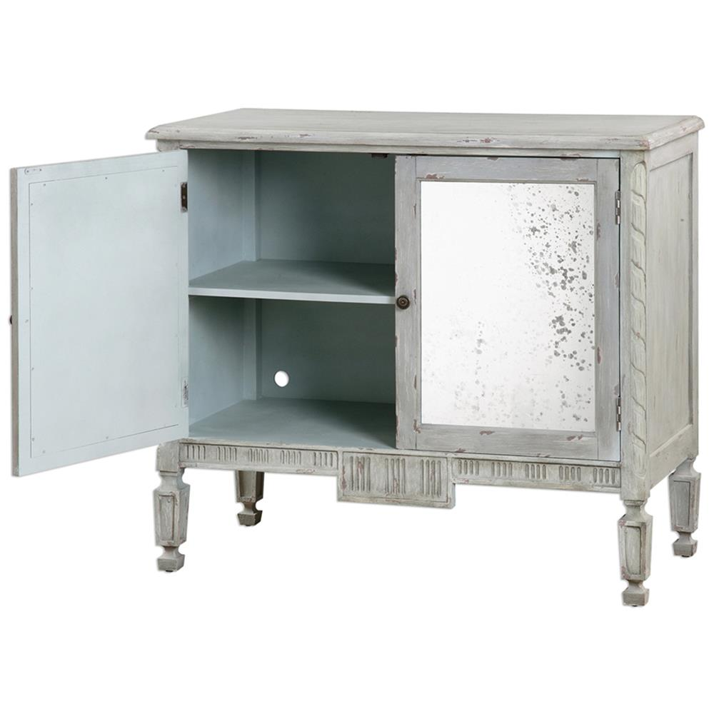Bellport Coastal Beach Grey Antique Mirror Console Media Cabinet | Kathy  Kuo Home - Bellport Coastal Beach Grey Antique Mirror Console Media Cabinet