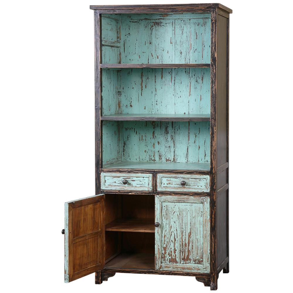 Alto global bazaar distressed teal reclaimed fir wood