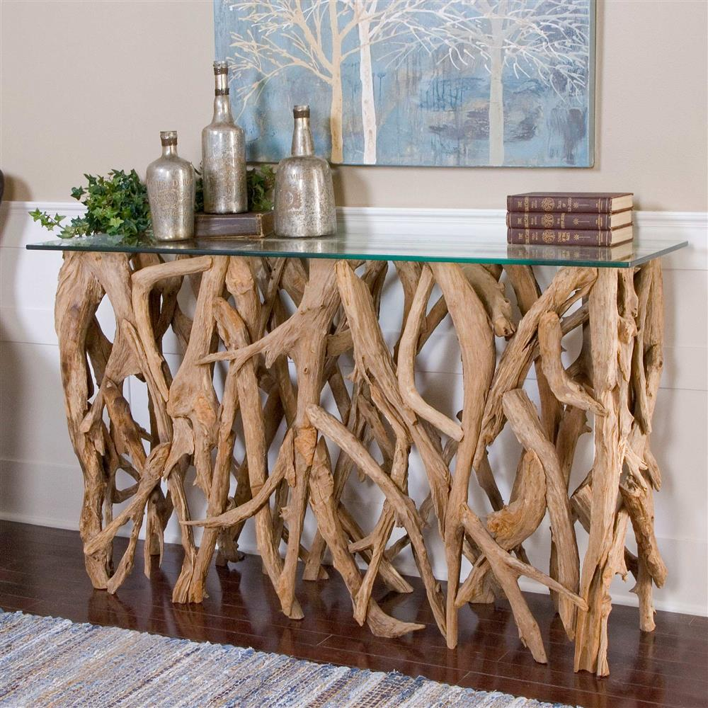 Sagamore rustic beach reclaimed teak wood console table kathy view full size geotapseo Images