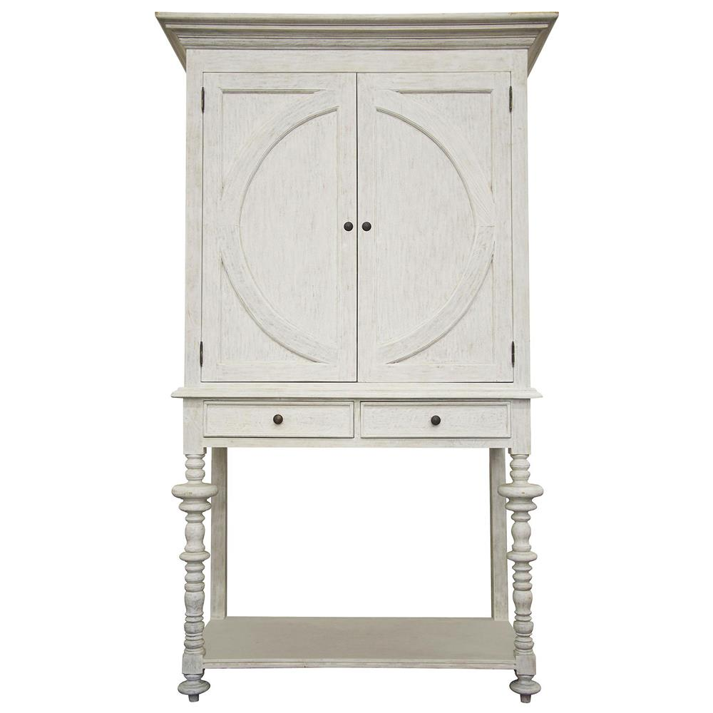 Ariel coastal beach rustic white wash two door cabinet for Rustic white cabinets