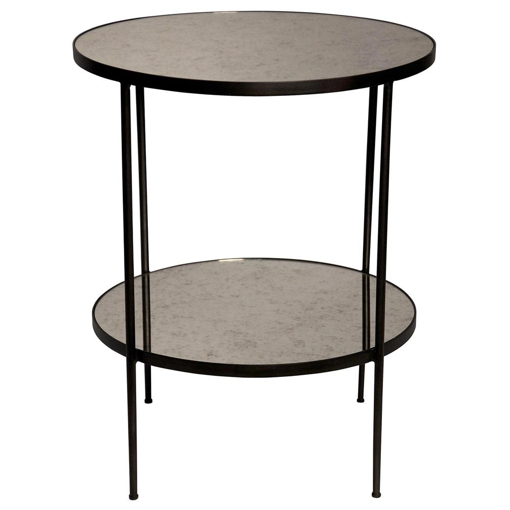 Meera Modern Classic Antique Glass Round End Table Kathy