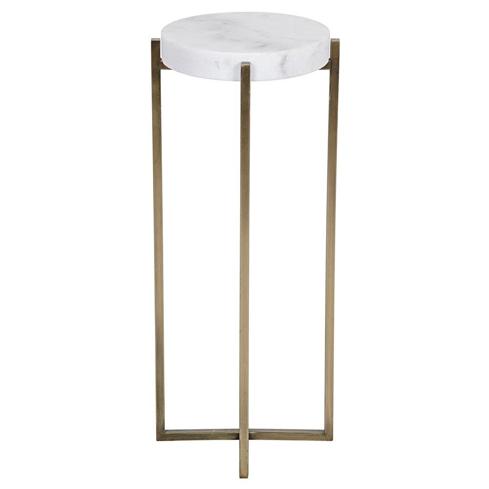 alexia hollywood regency quartz antique brass round side. Black Bedroom Furniture Sets. Home Design Ideas