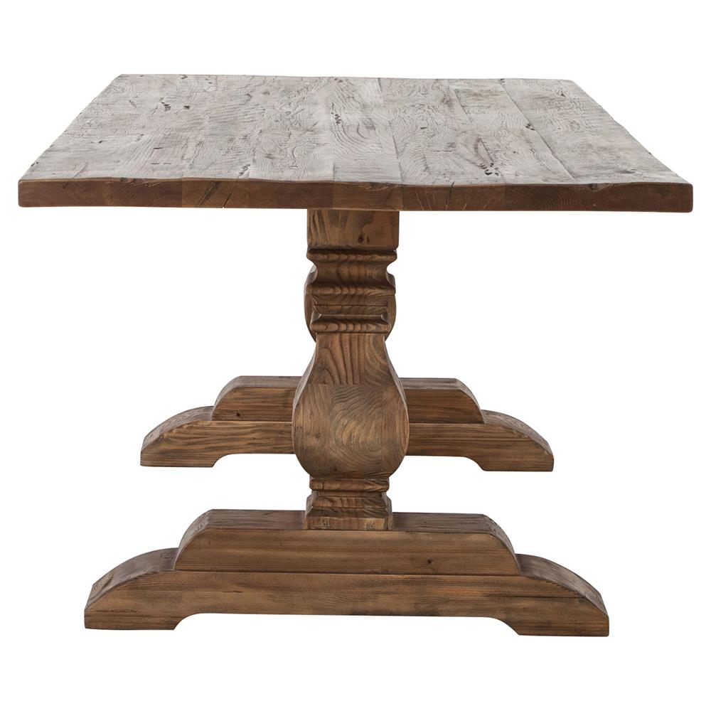 ... Arbois French Country Bleached Oak Trestle Dining Table   87 Inch |  Kathy Kuo Home ...