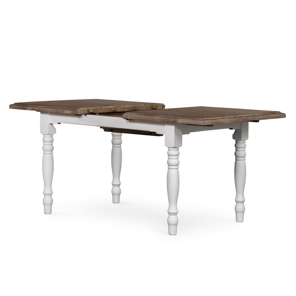 Elwin Modern Classic Reclaimed Wood Whitewash Adjustable