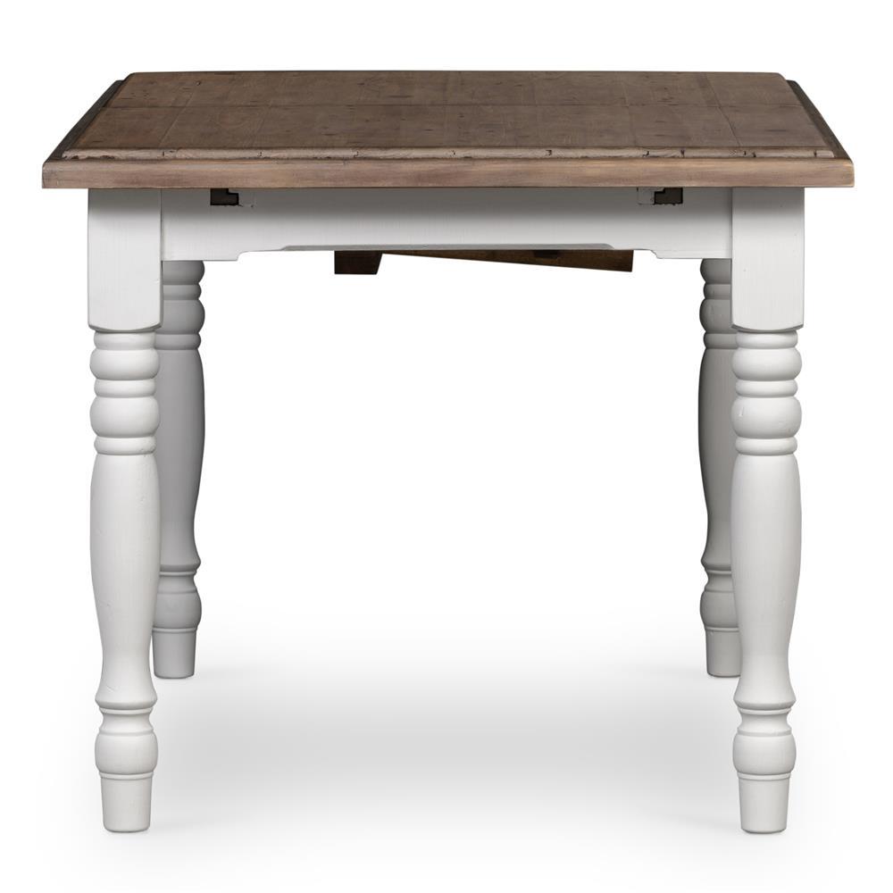 White Wash Wood Dining Table: Elwin Modern Classic Reclaimed Wood Whitewash Adjustable