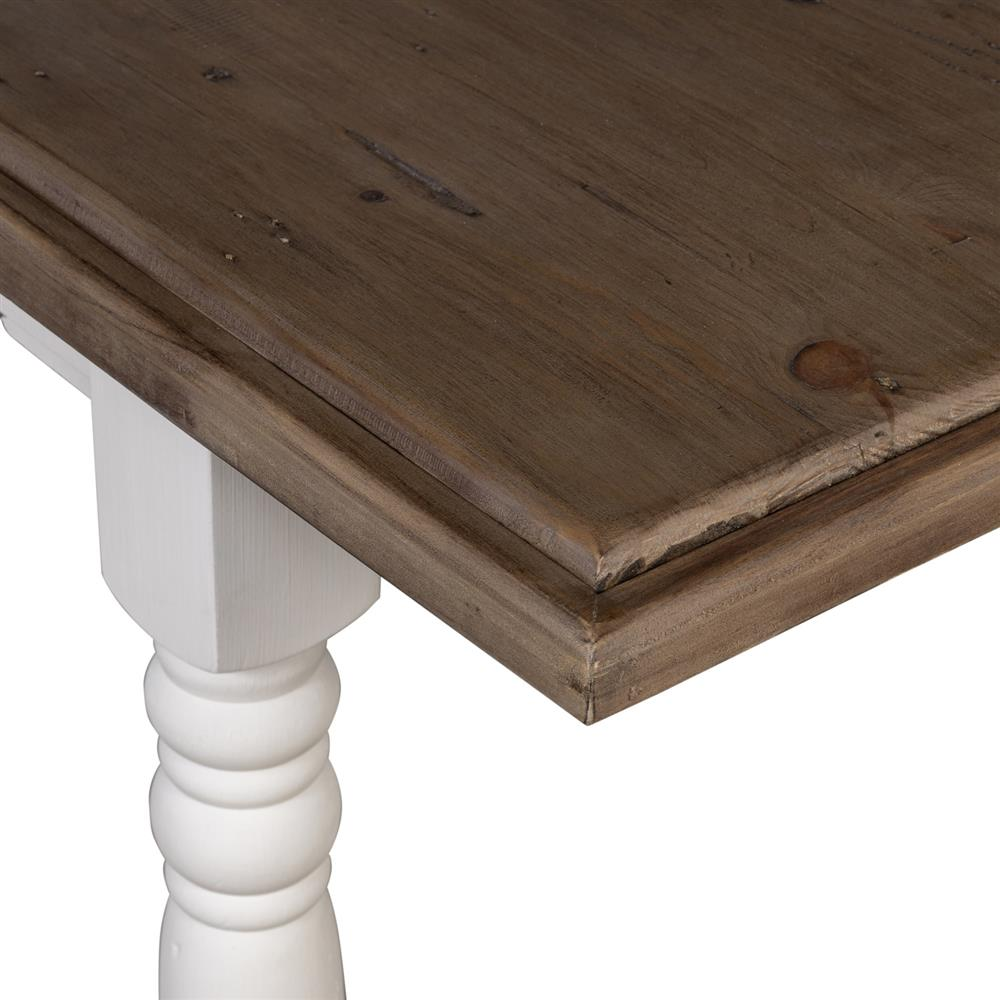 Elwin Modern Classic Reclaimed Wood Whitewash Adjustable Dining Table