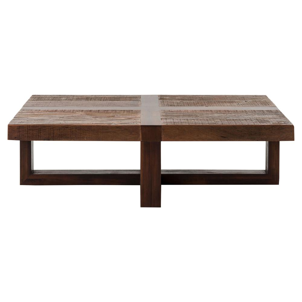 Grange Rustic Lodge Natural Wood Cross Top Coffee Table Kathy Kuo Home
