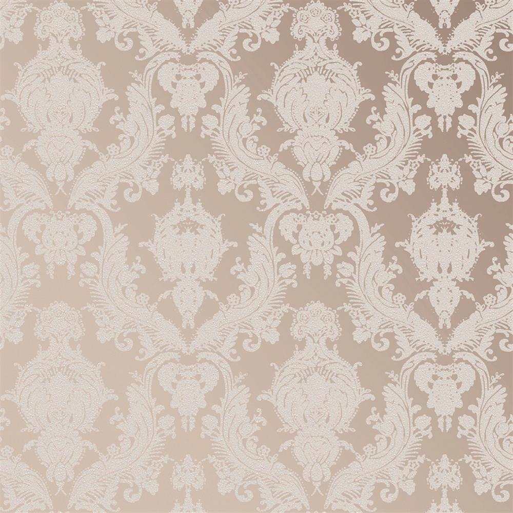 Elegant Cream Hallway With Damask Wallpaper: Damask Modern Classic Champagne Pearl Removable Wallpaper