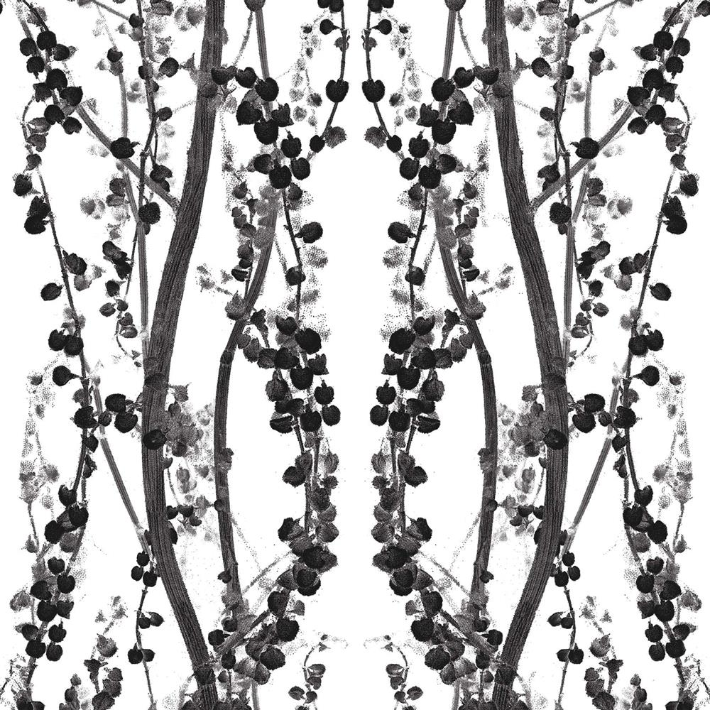 branches modern classic black white removable wallpaper
