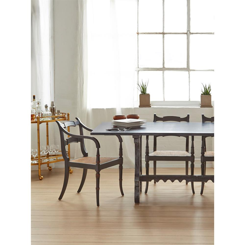 Dining tables macon french country modern black mahogany dining table