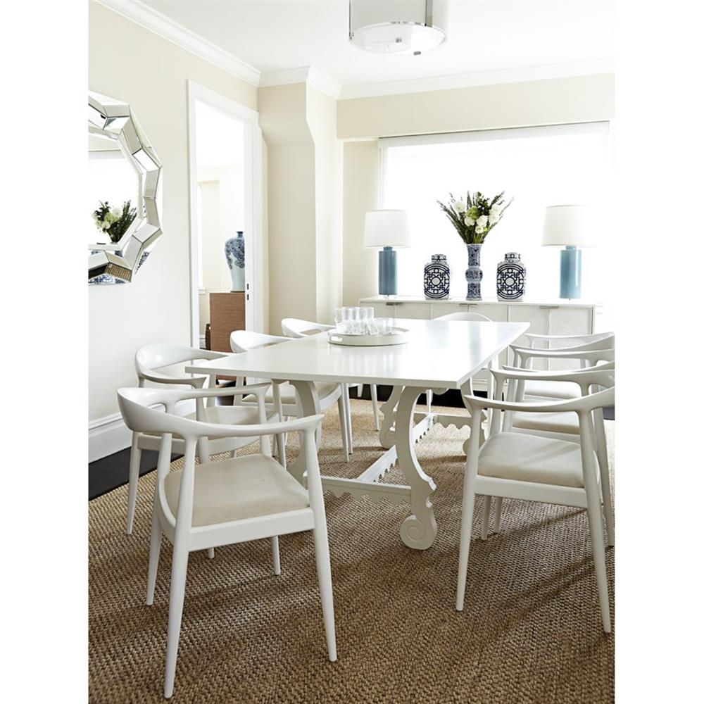 Country White Dining Table: Macon French Country Modern White Mahogany Dining Table