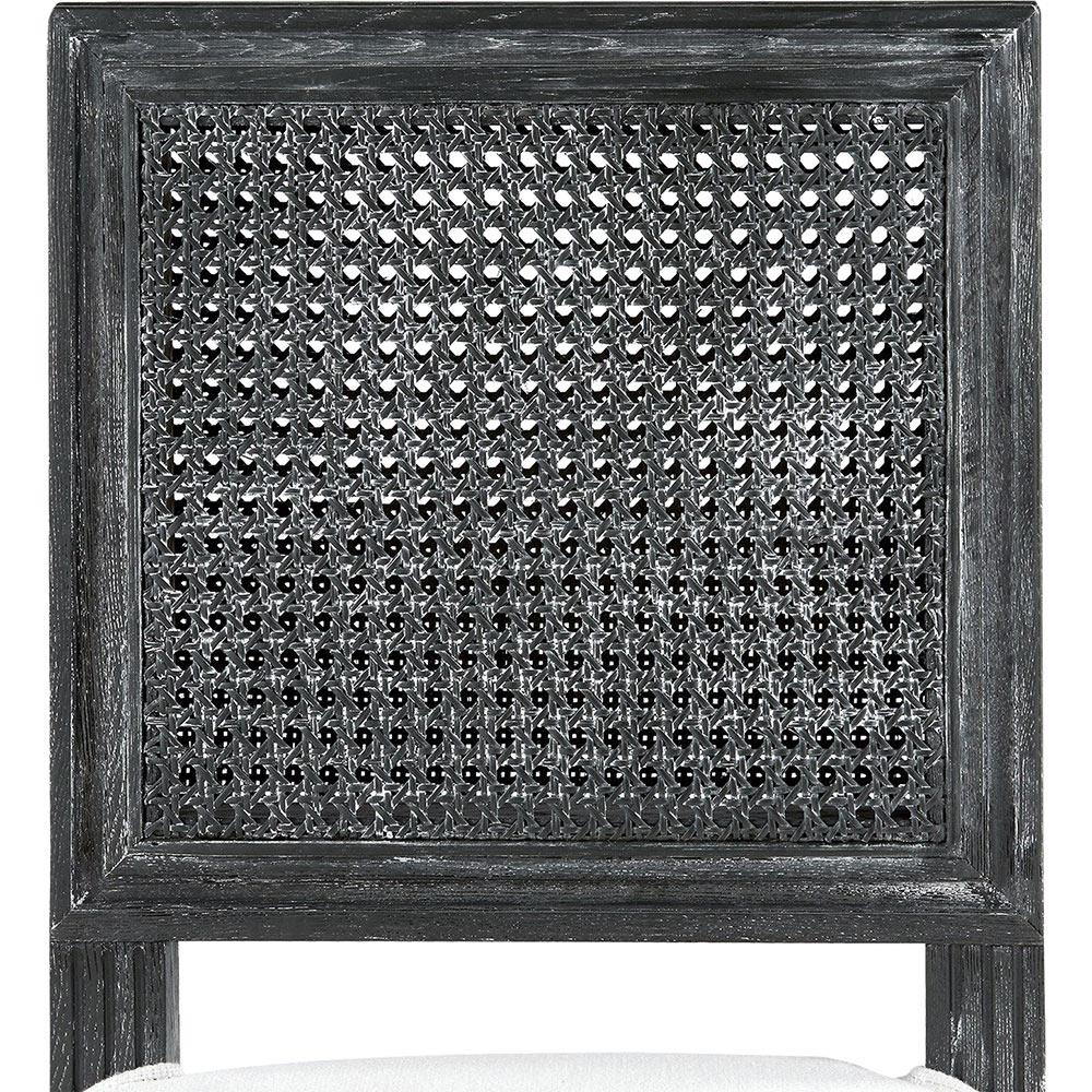 Maebell French Country Grey Woven Full Back Counter Stool