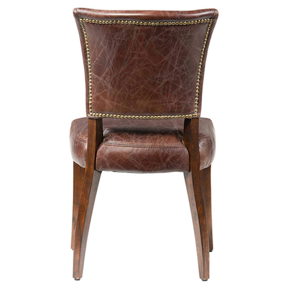 Melba Modern Classic Brown Leather Dining Chair Kathy  : product131513 from www.kathykuohome.com size 1000 x 1000 jpeg 57kB