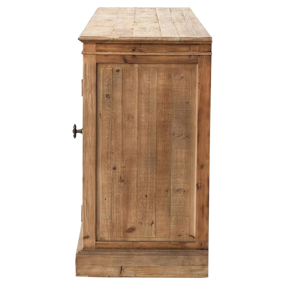 Marin french country reclaimed pine sideboard cabinet for Sideboard pinie