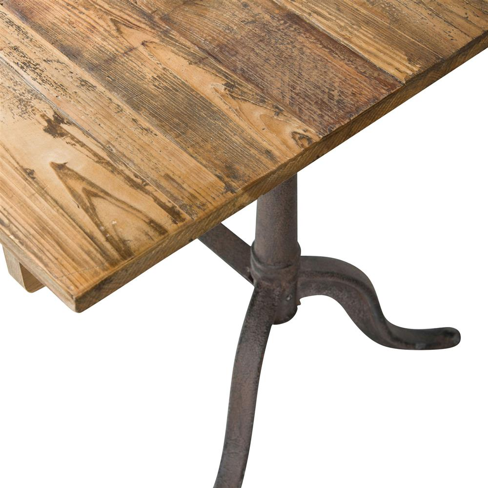 guy rustic french reclaimed wood iron dining table kathy kuo home. Black Bedroom Furniture Sets. Home Design Ideas