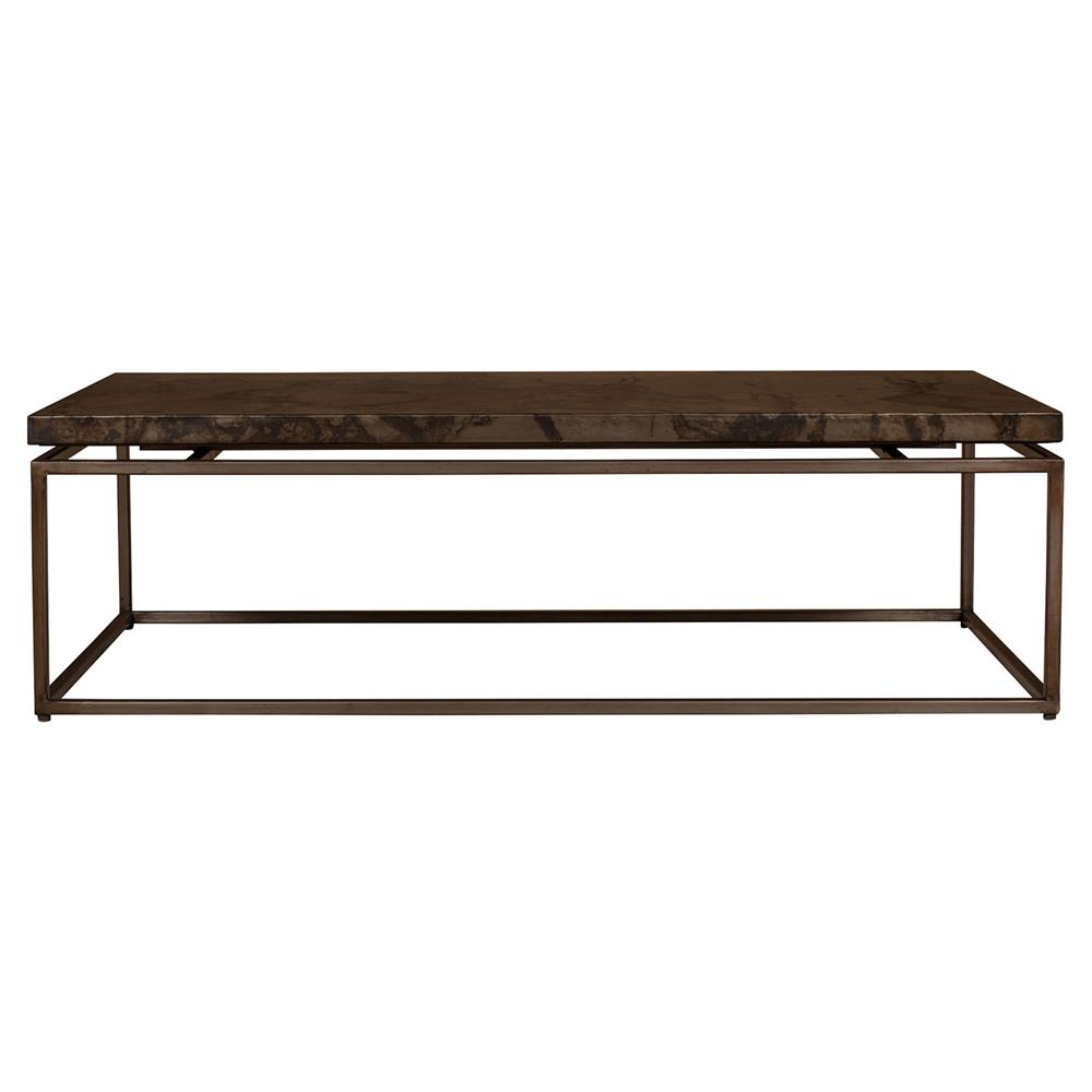 Augustan Coffee Table: Rollins Industrial Loft Bronze Iron Coffee Table