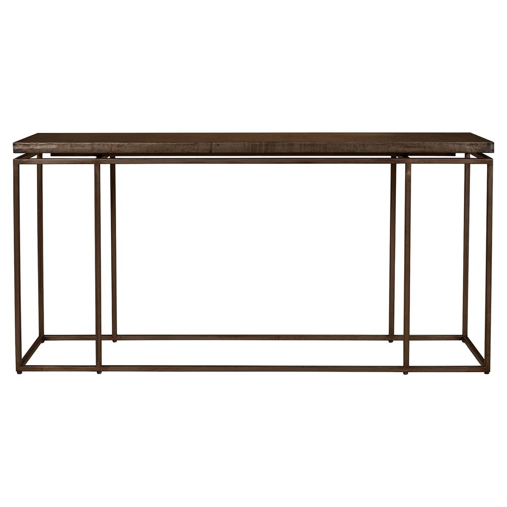 Iron Console Table : Rollins Industrial Loft Bronze Iron Console Table  Kathy Kuo Home