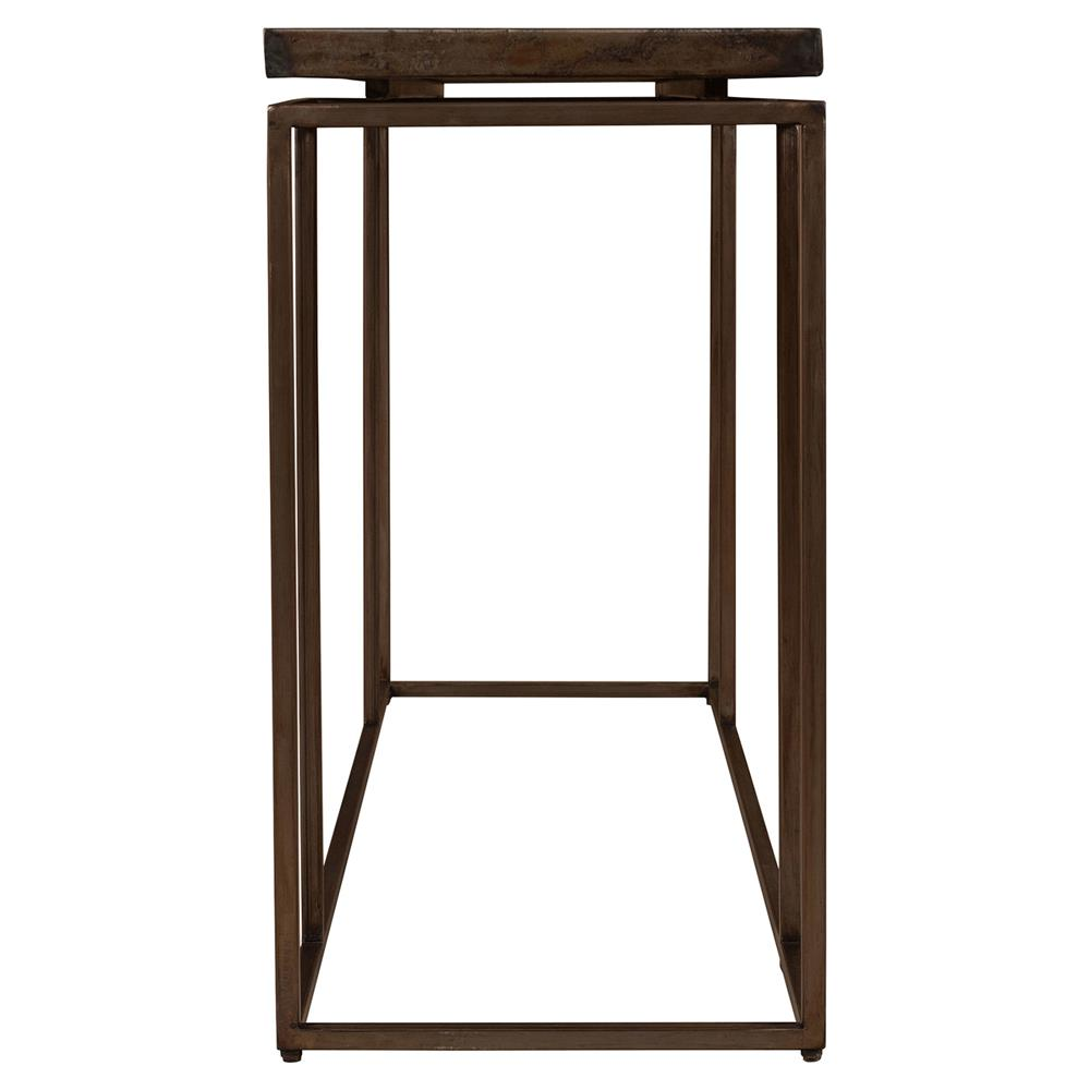 Rollins Industrial Loft Bronze Iron Console Table Kathy