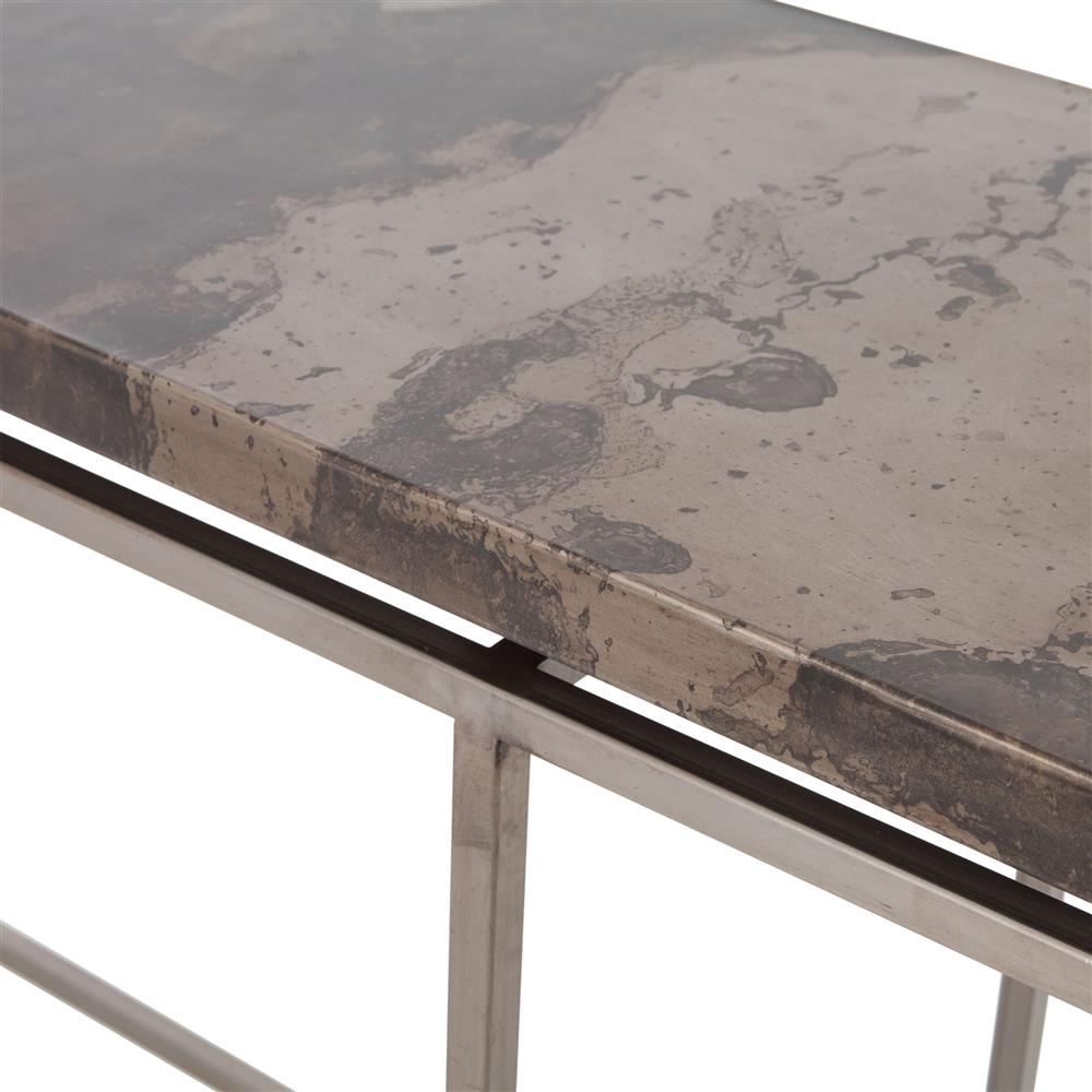 Rollins Industrial Loft Bronze Iron Coffee Table: Rollins Industrial Loft Bronze Iron Console Table