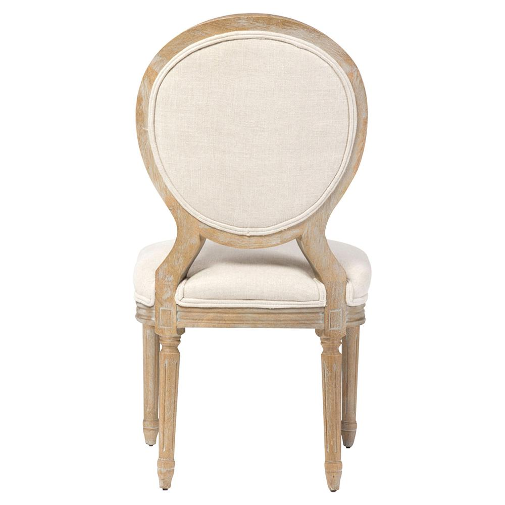 april french country white linen wood dining chair kathy kuo home - White Wood Dining Chairs
