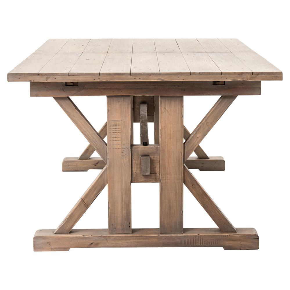 Lyle Lodge Reclaimed Pine Adjustable Dining Table Kathy Kuo Home - Reclaimed pine dining table