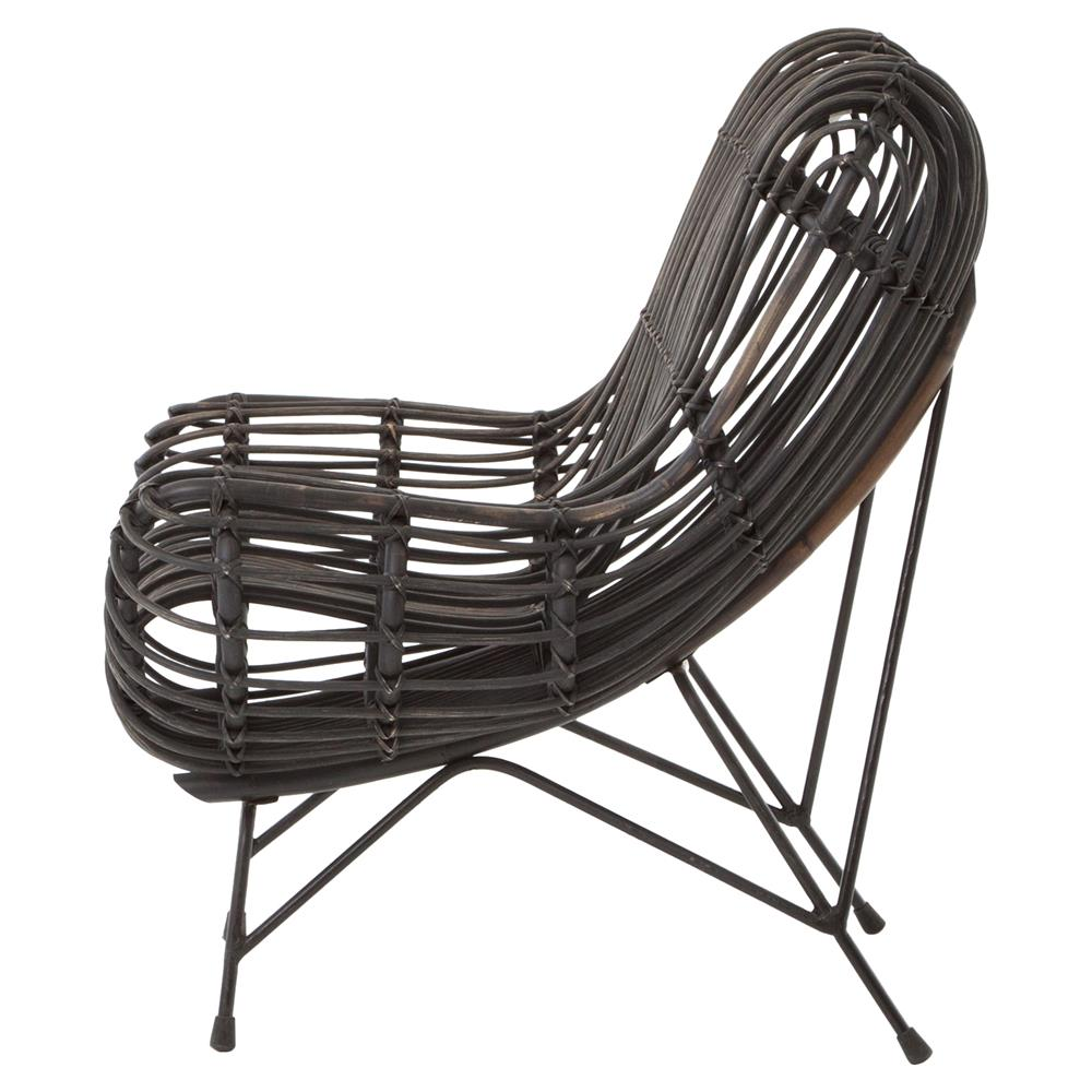 Cowan Modern Classic Black Metal Wicker Chair Kathy Kuo Home