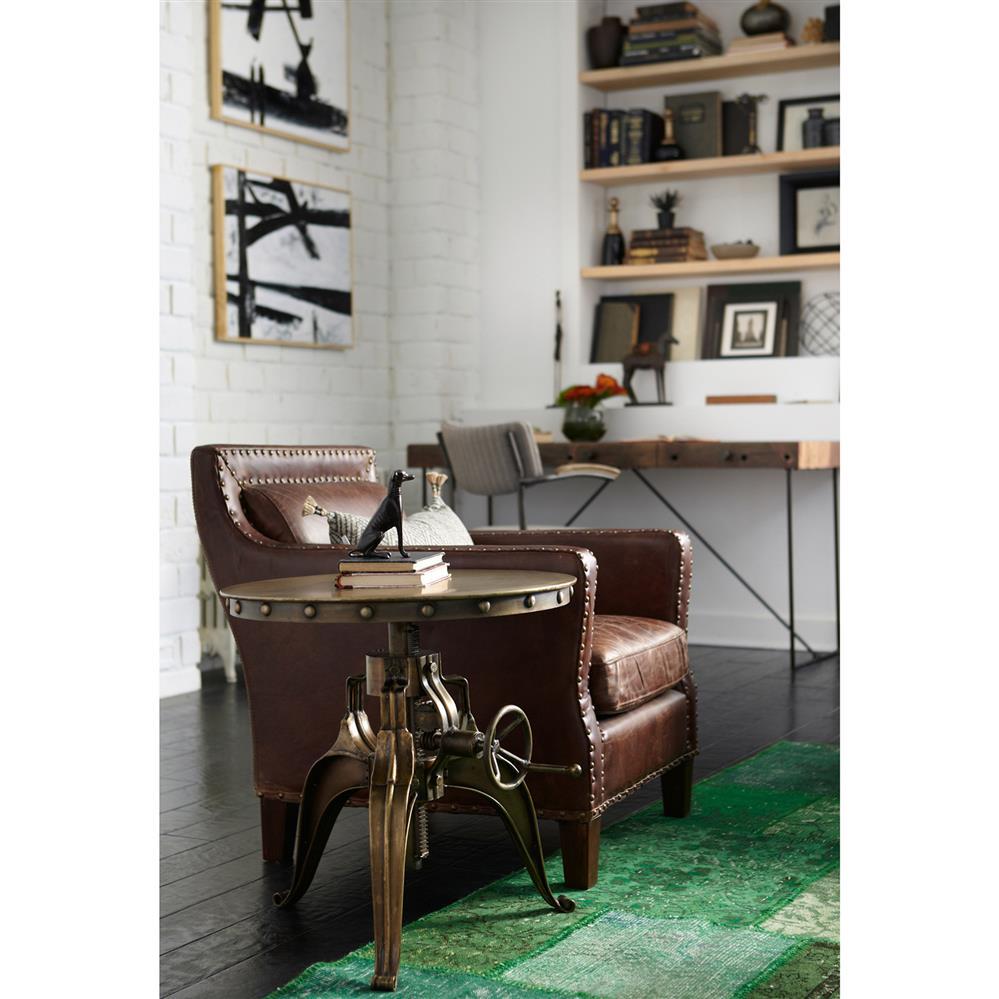 Reclaimed Wood Rustic Home Office: Hugh Rustic Modern Reclaimed Wood Iron Desk