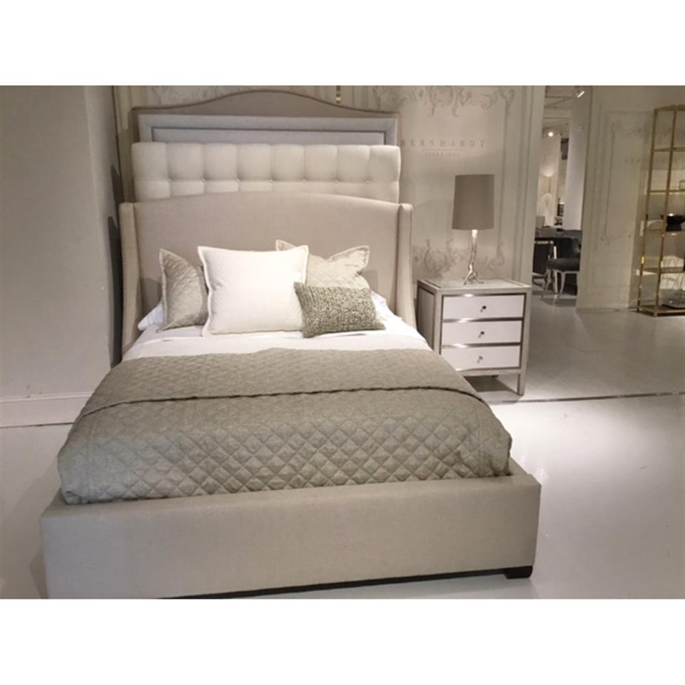view full size - Upholstered Queen Bed