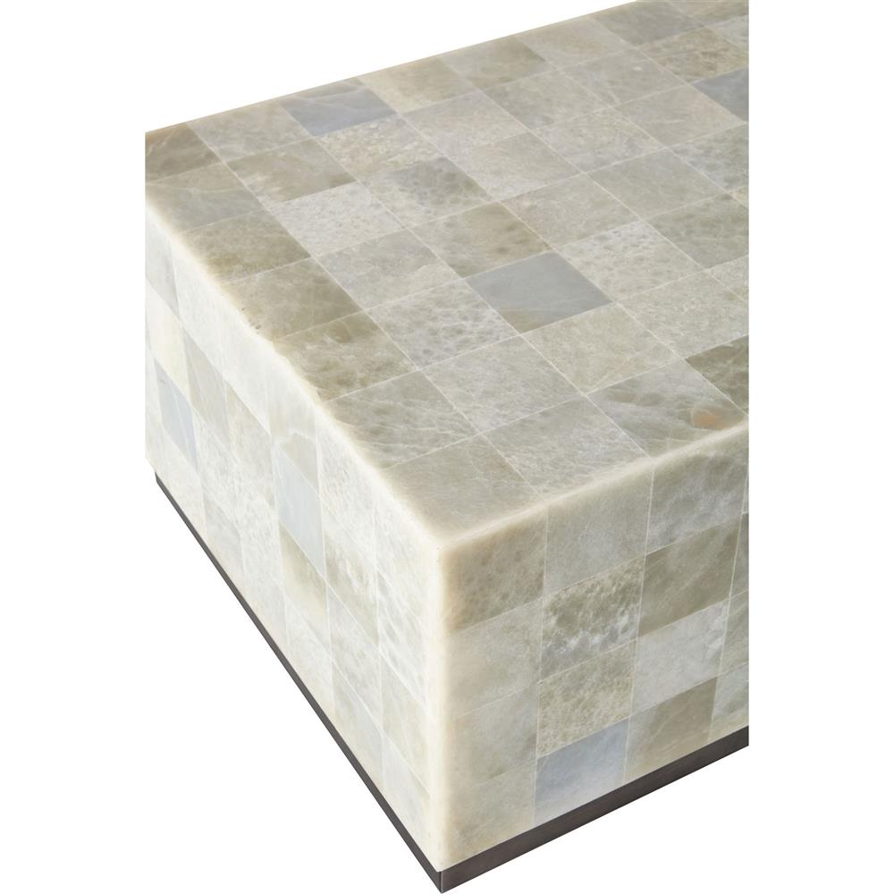 trumbull modern global stone tile coffee table kathy kuo home