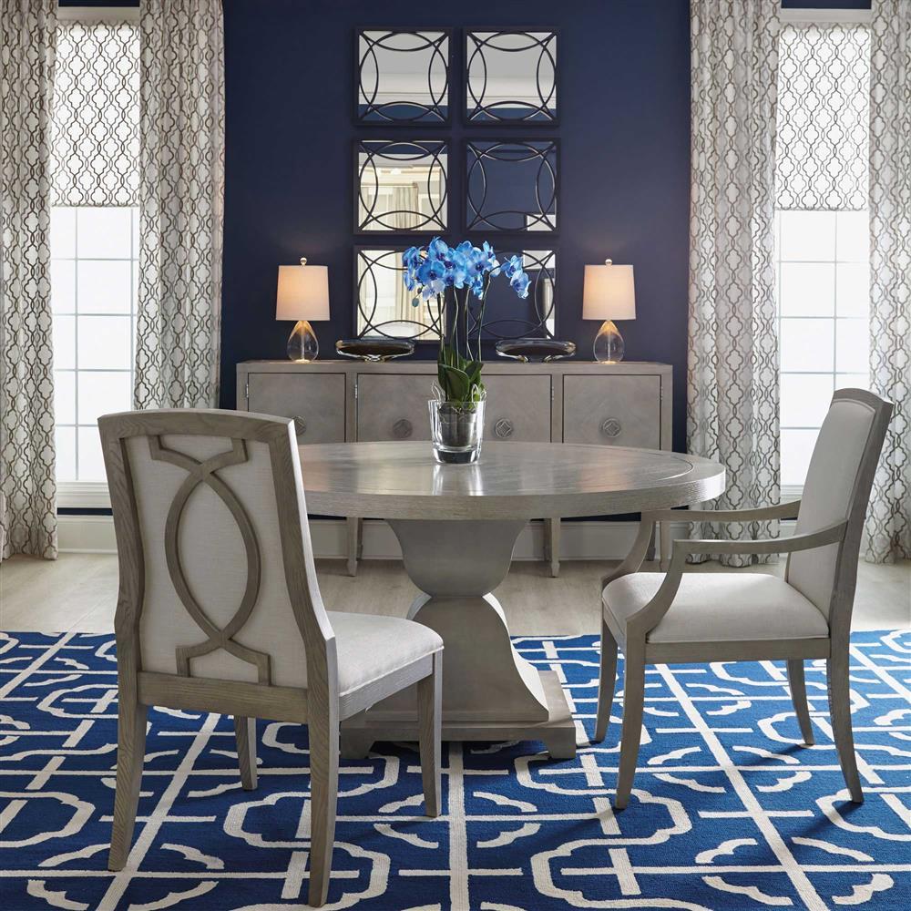 Hollywood Regency gretta grey hollywood regency ivory side chair - pair | kathy kuo home