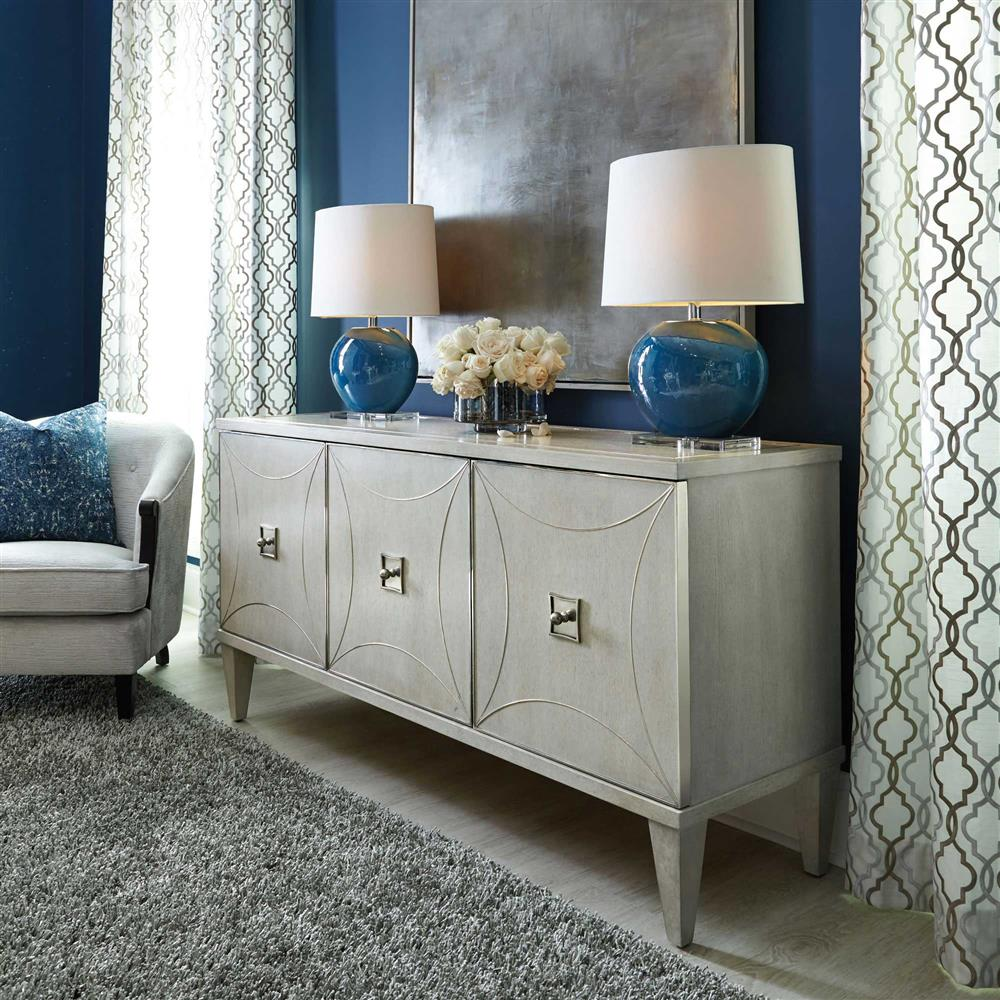 Attractive Gretta Deco Hollywood Regency Polished Ash Grey Media Console | Kathy Kuo  Home