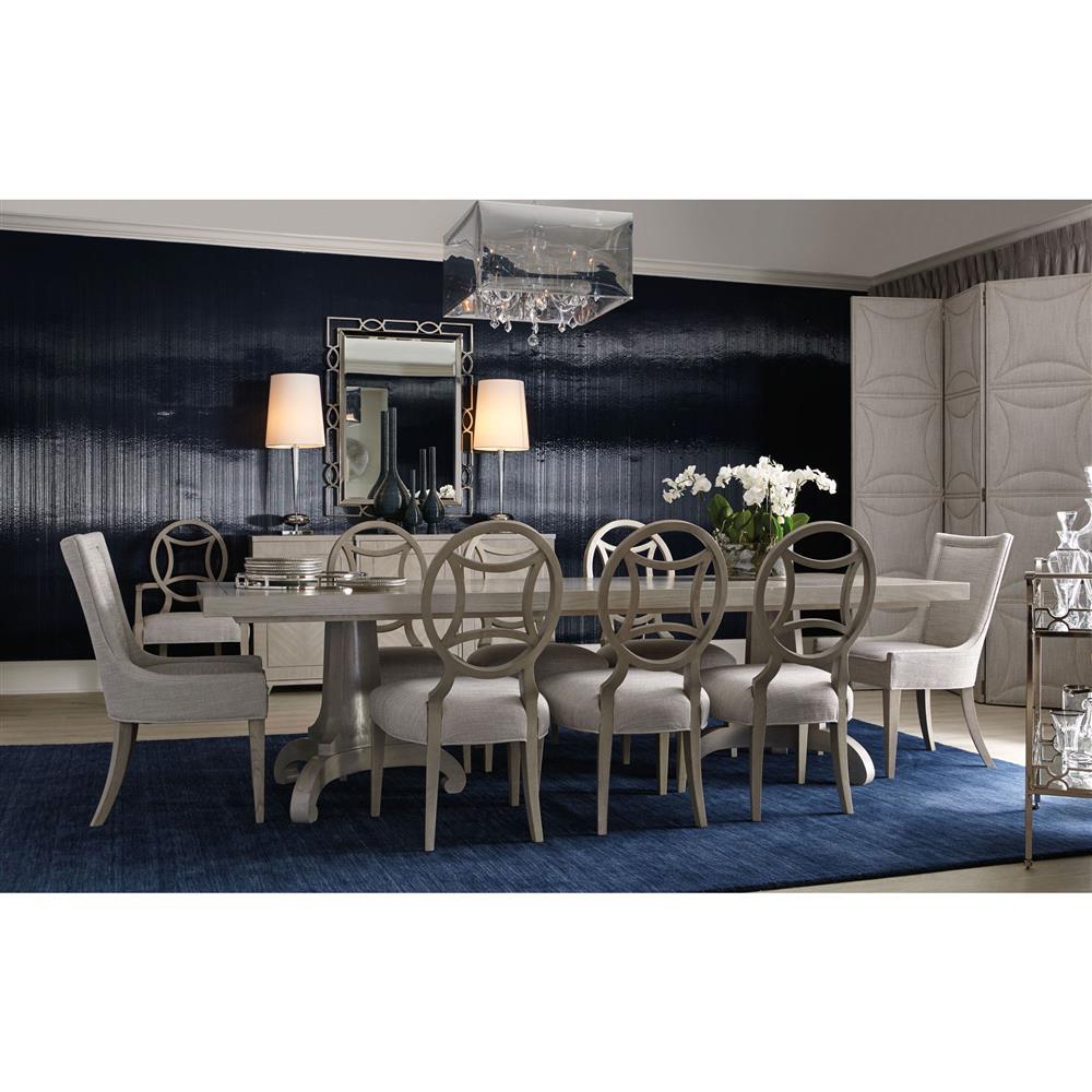 Gretta Hollywood Regency Grey Upholstered Nailhead Tri