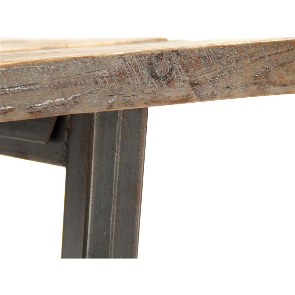 Brock Rustic Industrial Reclaimed Wood Iron Coffee Table Kathy Kuo Home