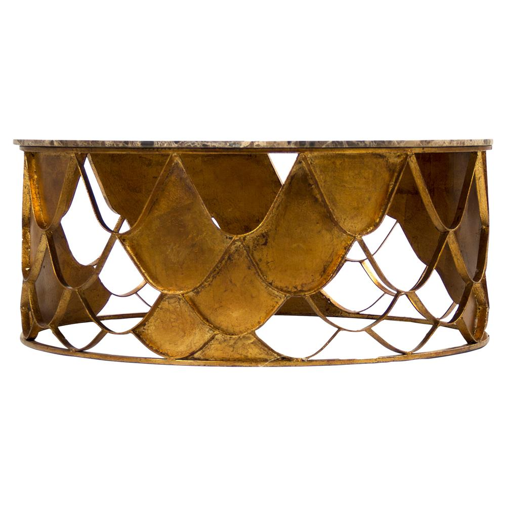 Round Coffee Table With Chairs.Auriel Global Bazaar Antique Gold Scale Round Coffee Table Set Of 2
