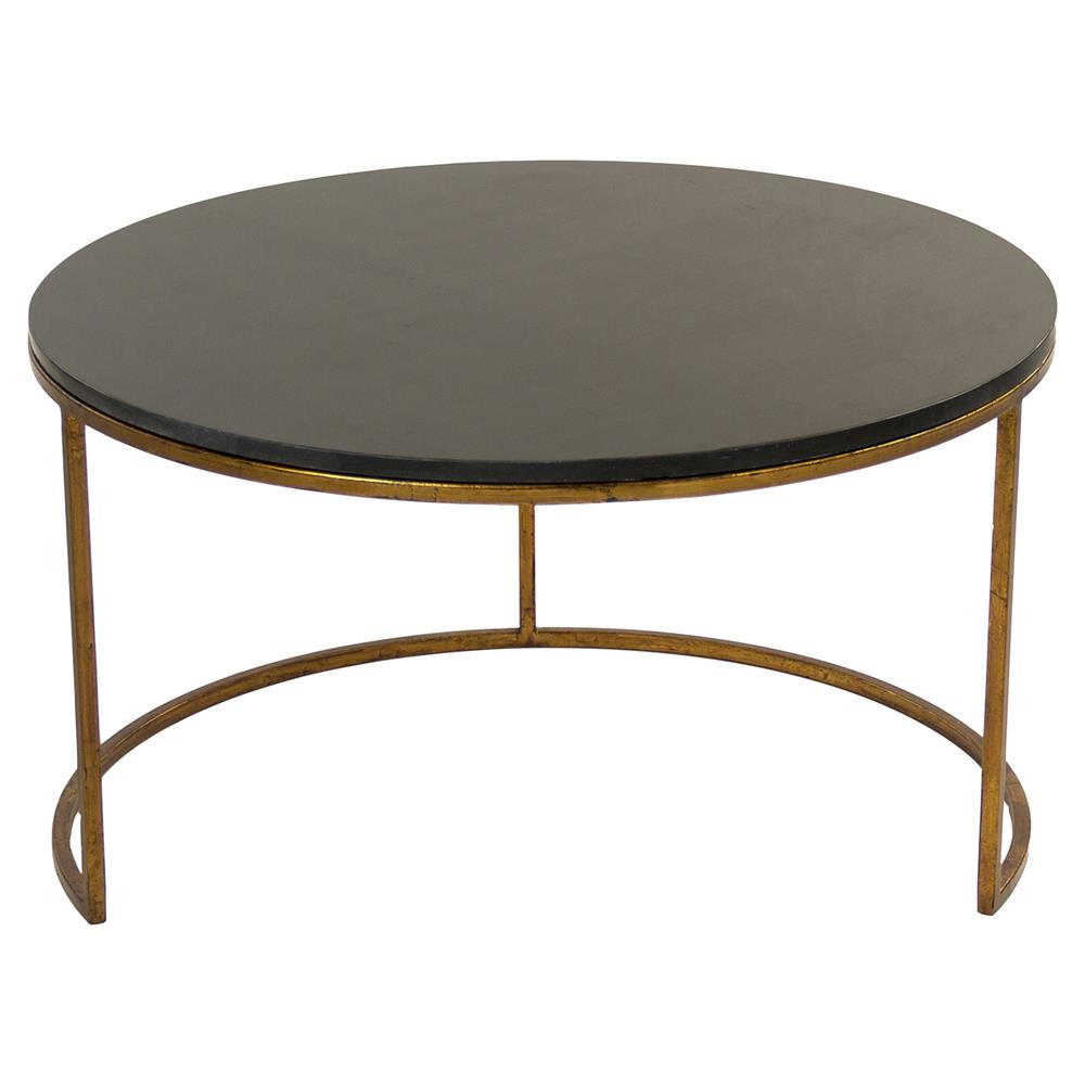 Leona Modern Black Polish Antique Gold Nest Coffee Tables Kathy Kuo Home
