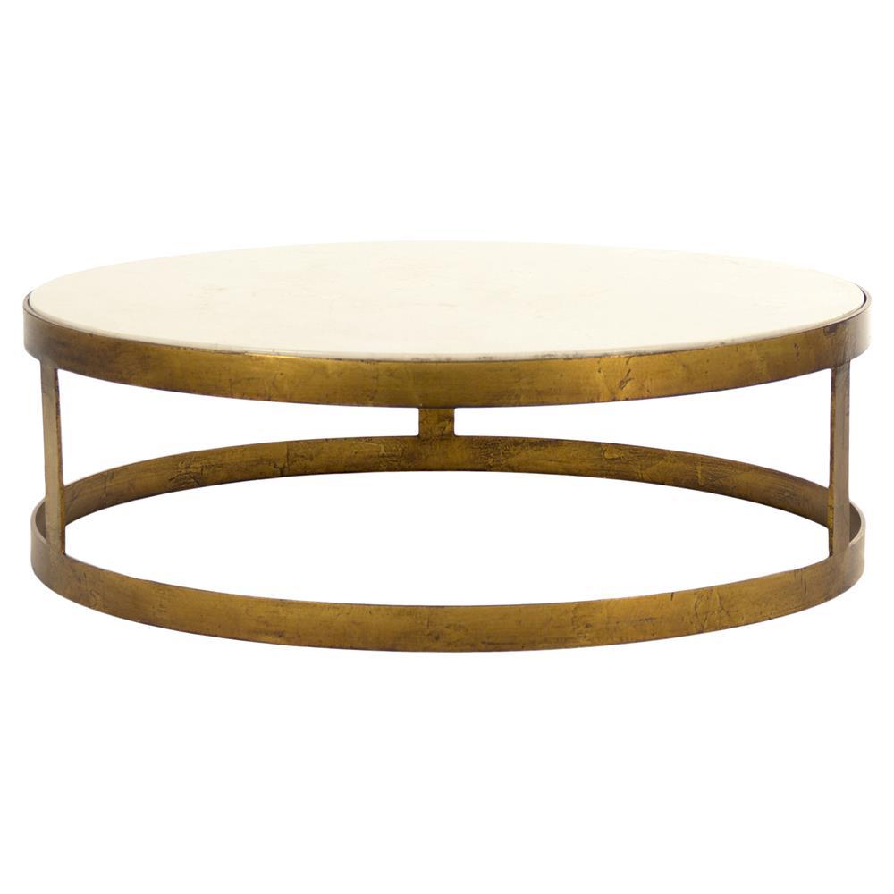 Ivory Stone Oval Coffee Table: Portia Global Ivory Stone Gold Nest Round Coffee Tables