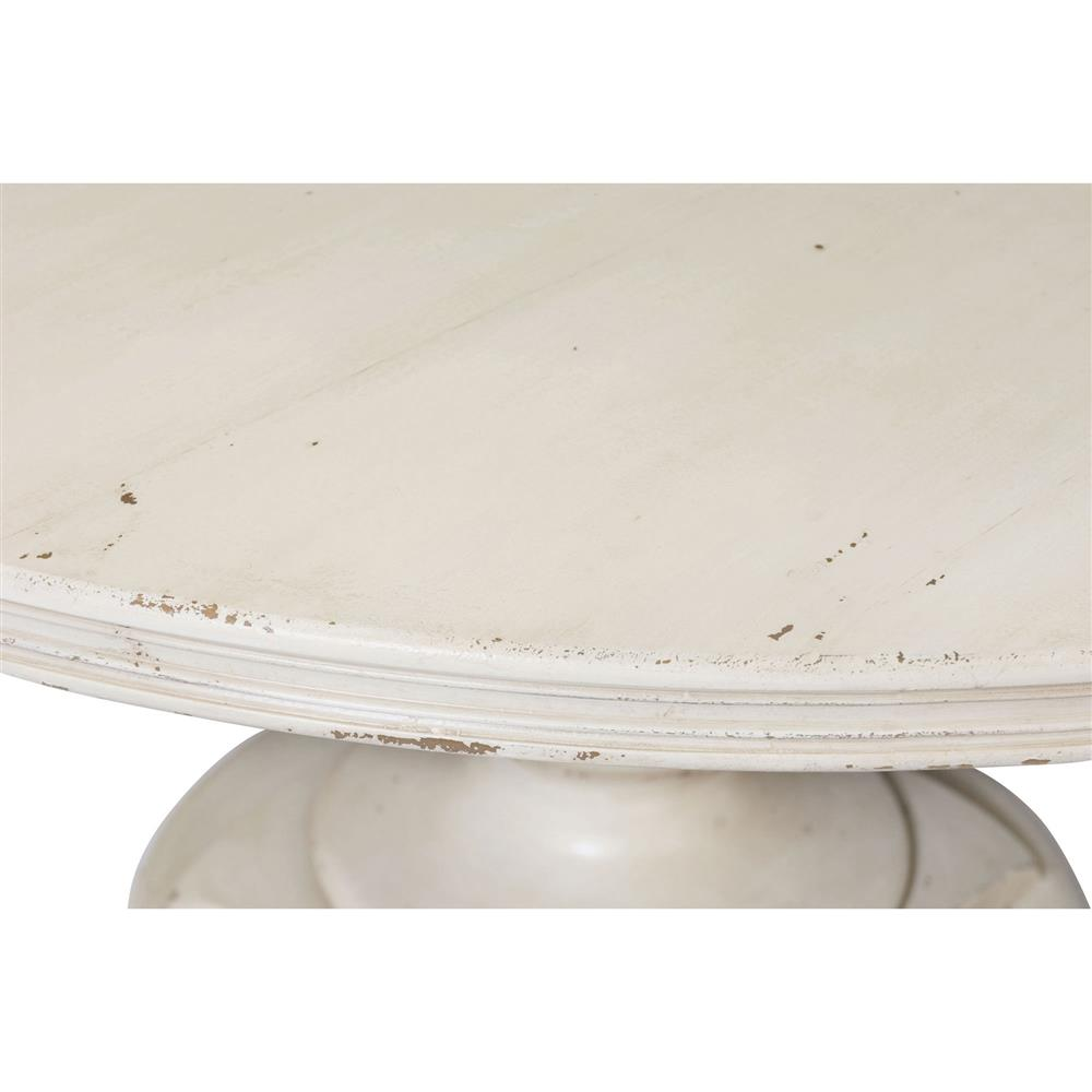 reine french country antique white rustic round dining table kathy kuo home