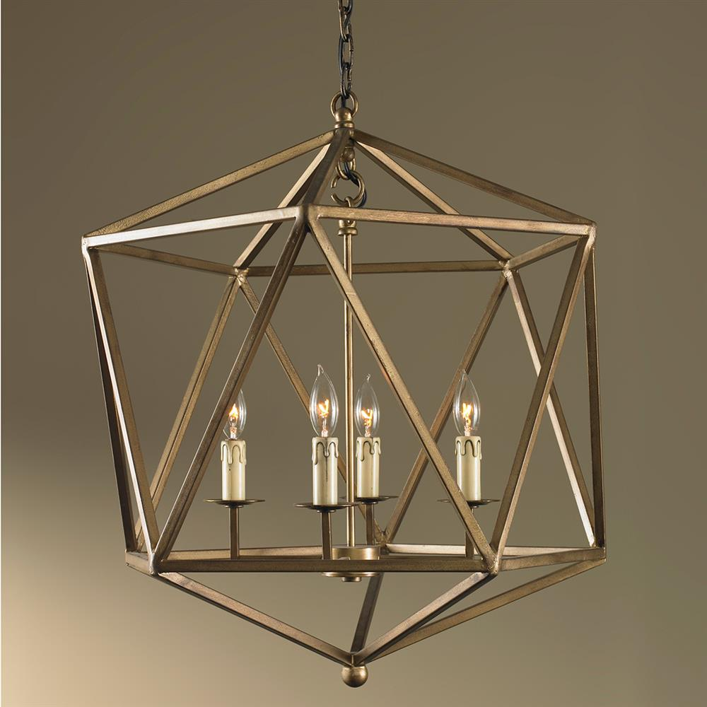 Mr Brown Orion Industrial Rustic Gold Geometric Pendant
