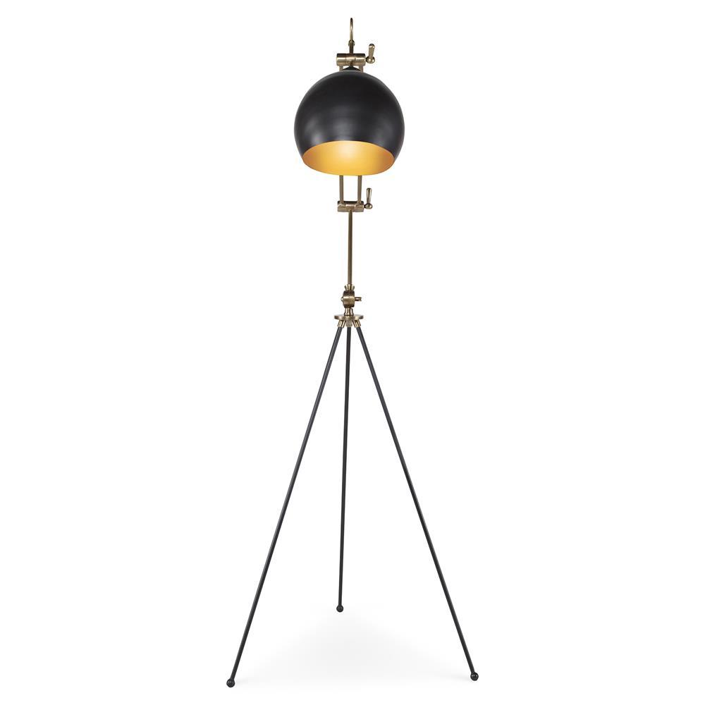 floor lamps cliff industrial loft black tripod dome floor lamp. Black Bedroom Furniture Sets. Home Design Ideas