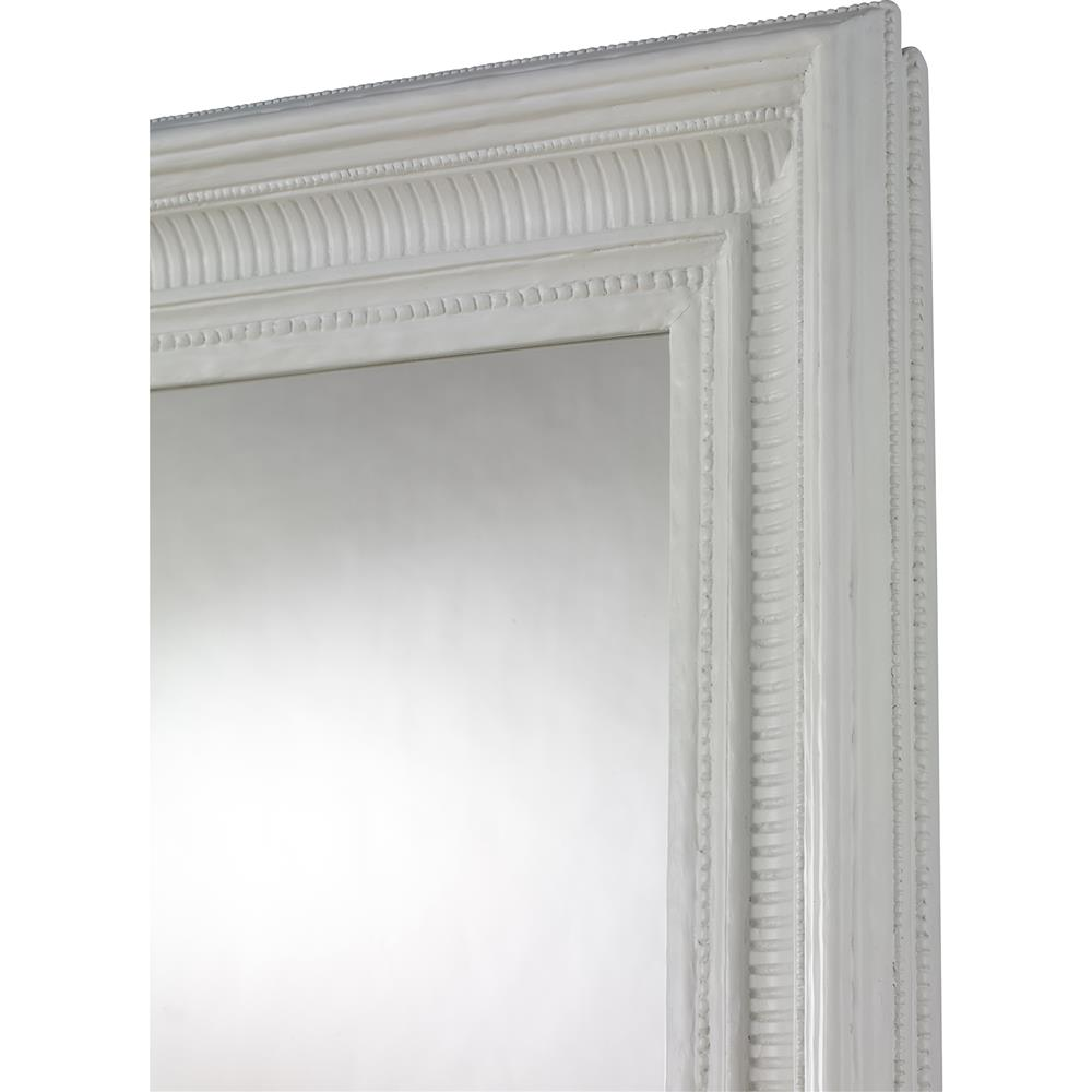 Mr brown tobias french country white gesso framed floor for Framed floor mirror