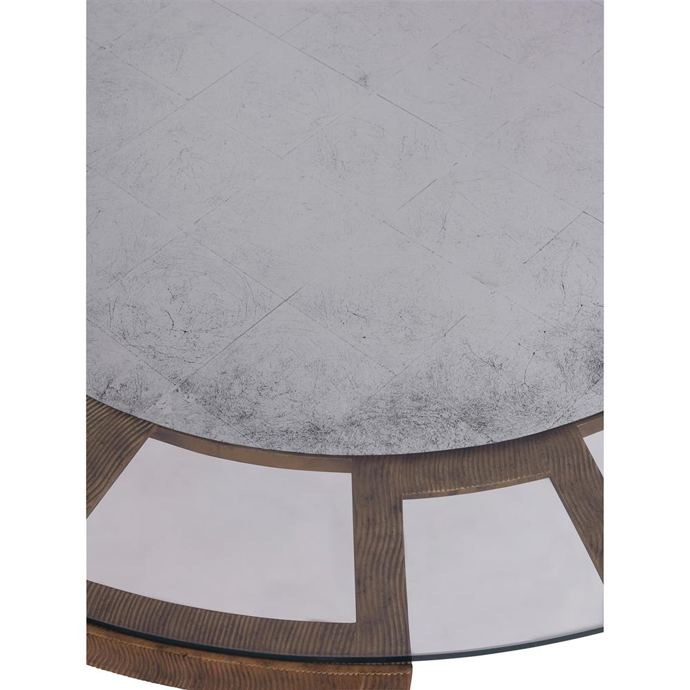 Mr. Brown Vernet Modern Classic Flat Gold Round Coffee Table