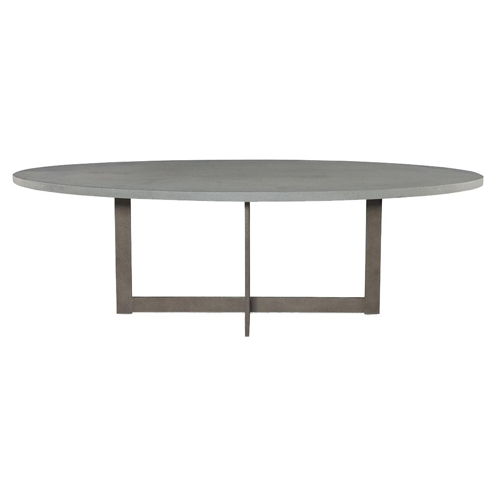 Ronan Industrial Grey Lava Rock Oval Outdoor Dining Table  : product138161 from www.kathykuohome.com size 1000 x 1000 jpeg 29kB