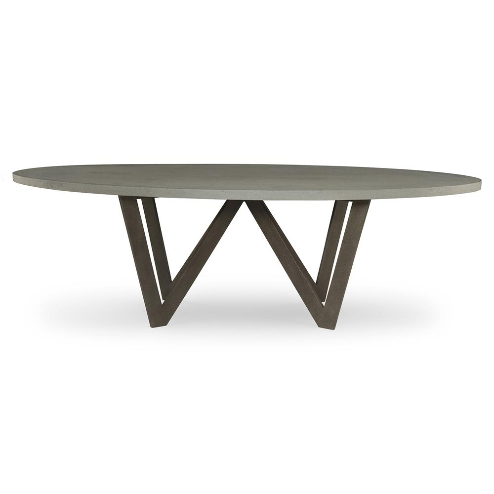 Loft Grey Stone Oval Outdoor Dining Table 8 Ft Kathy Kuo Home